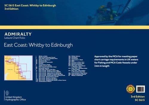 SC5615 Admiralty Leisure Chart Folio - East Coast: Whitby To Edinburgh